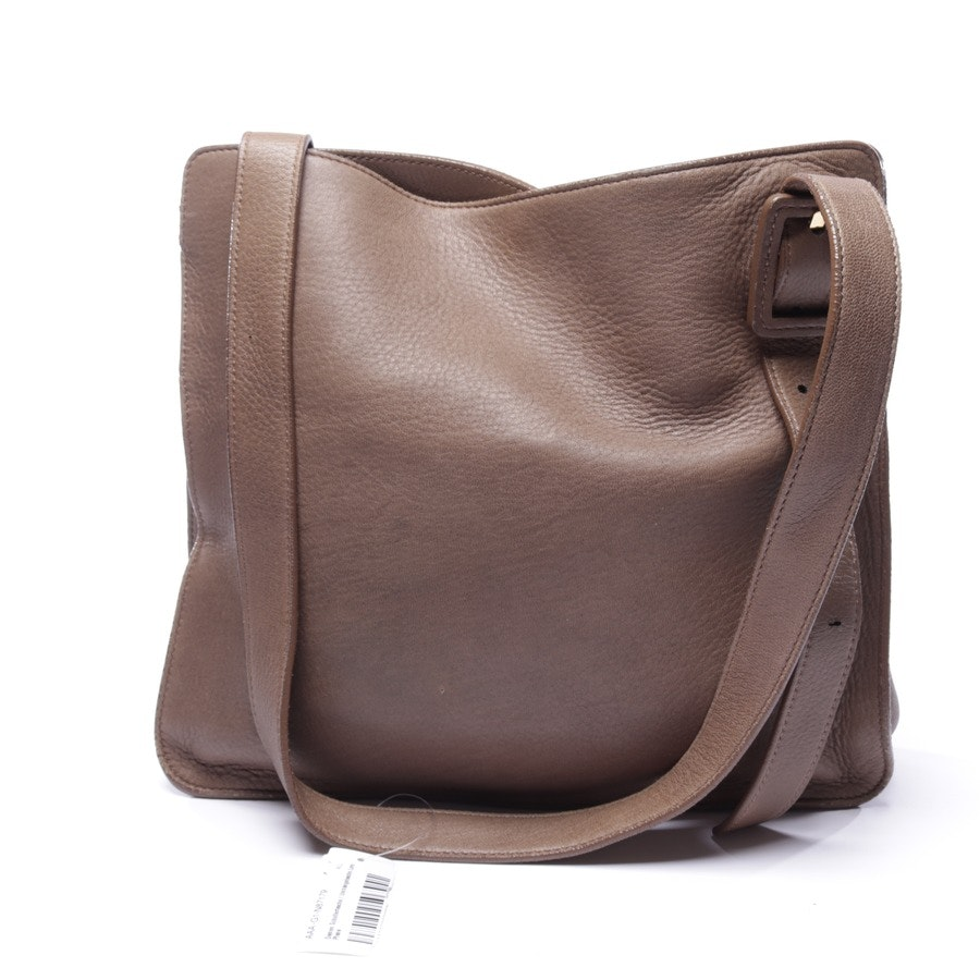 shoulder bag from Loro Piana in green-brown