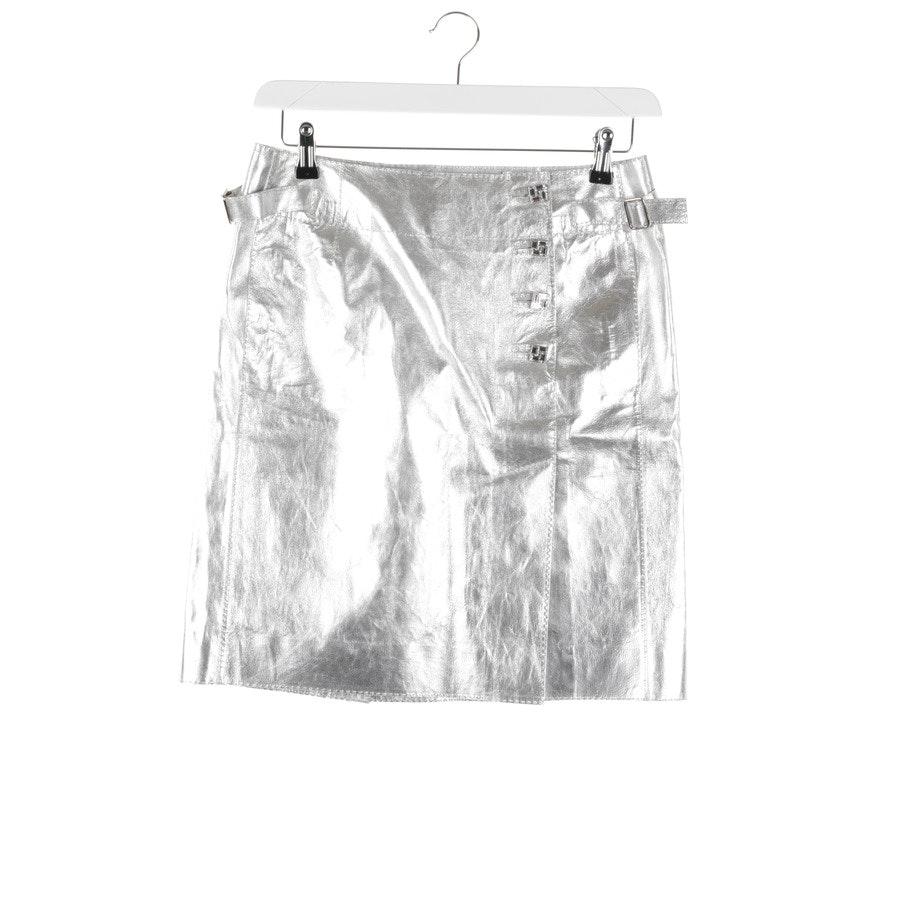 Lederrock von Louis Vuitton in Silber Gr. 36 FR 38