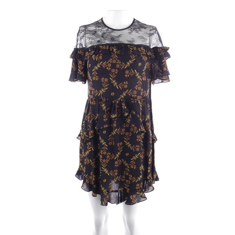 Minikleid von Sandro in Schwarz und Gelb Gr. 36