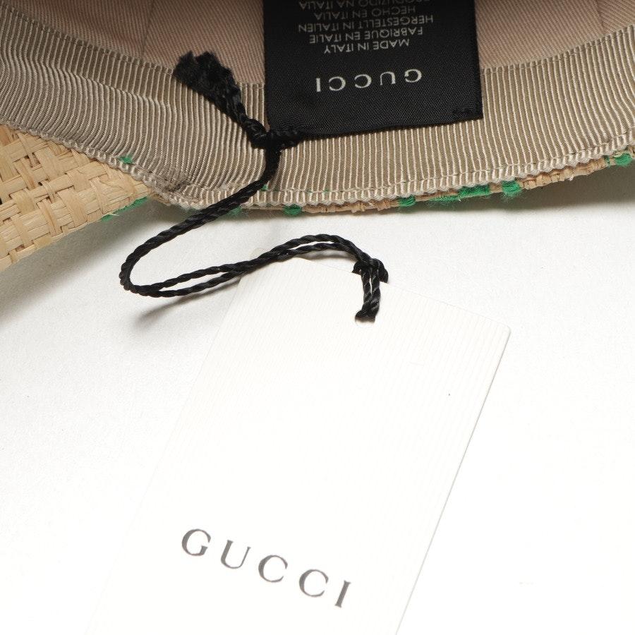 Schirmmütze von Gucci in Grün und Natur Gr. XS - Neu