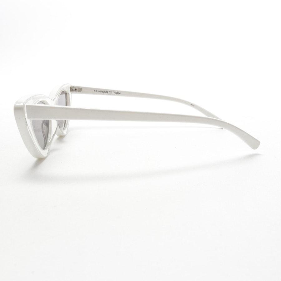 Sonnenbrille von Adam Selman x Le Specs in Transparent und Weiß - The Last Lolita - Neu