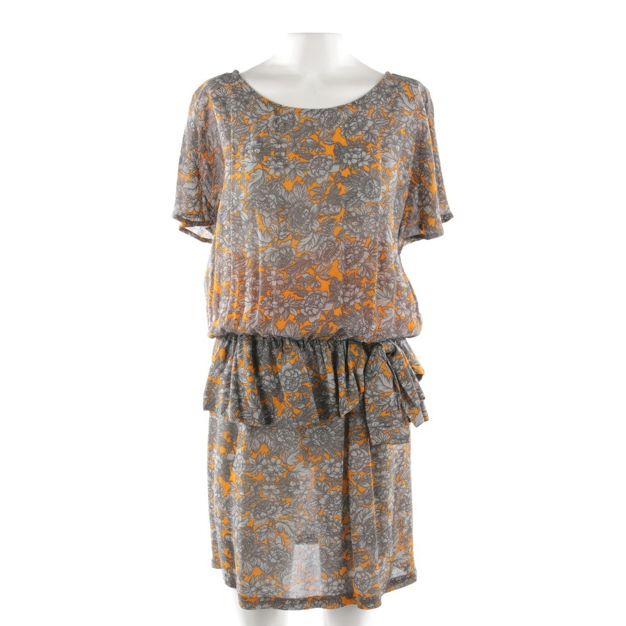 dress from Ganni in grey and orange size S