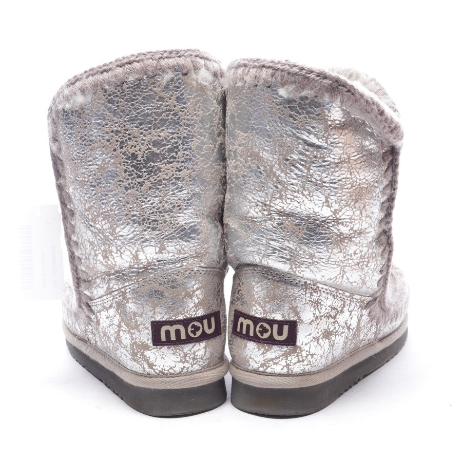 ankle boots from Mou in taupe and silver size EUR 39