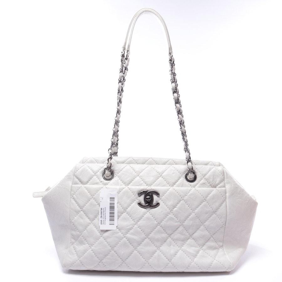 Schultertasche von Chanel in Offwhite
