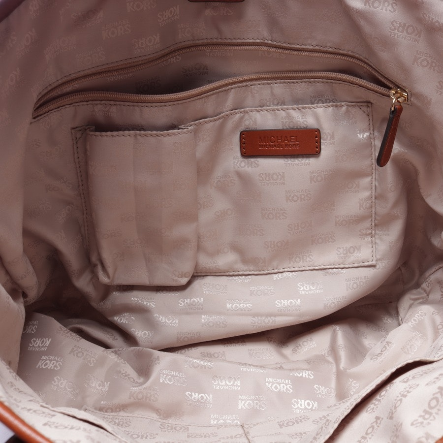 shopper from Michael Kors in cream white and brown