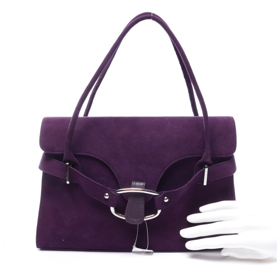 shoulder bag from Stuart Weitzman in purple