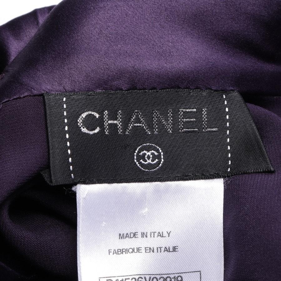 Seidenbluse von Chanel in Aubergine Gr. 40 FR 42