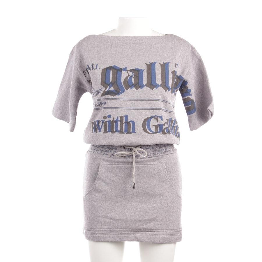 Kleid von John Galliano in Grau und Blau Gr. XXS - Neu