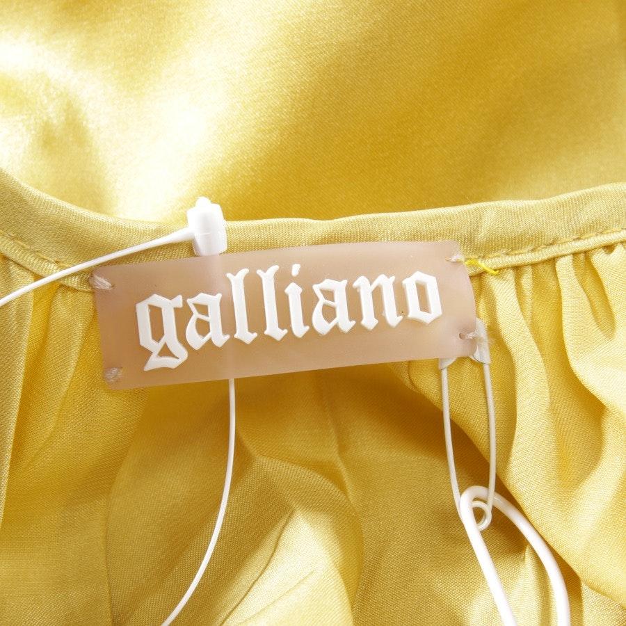 Seidenkleid von John Galliano in Gelb Gr. DE 32 IT 38 - NEU mit Etikett!