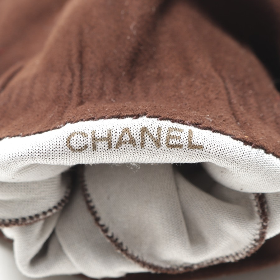 gloves from Chanel in brown size 7,5