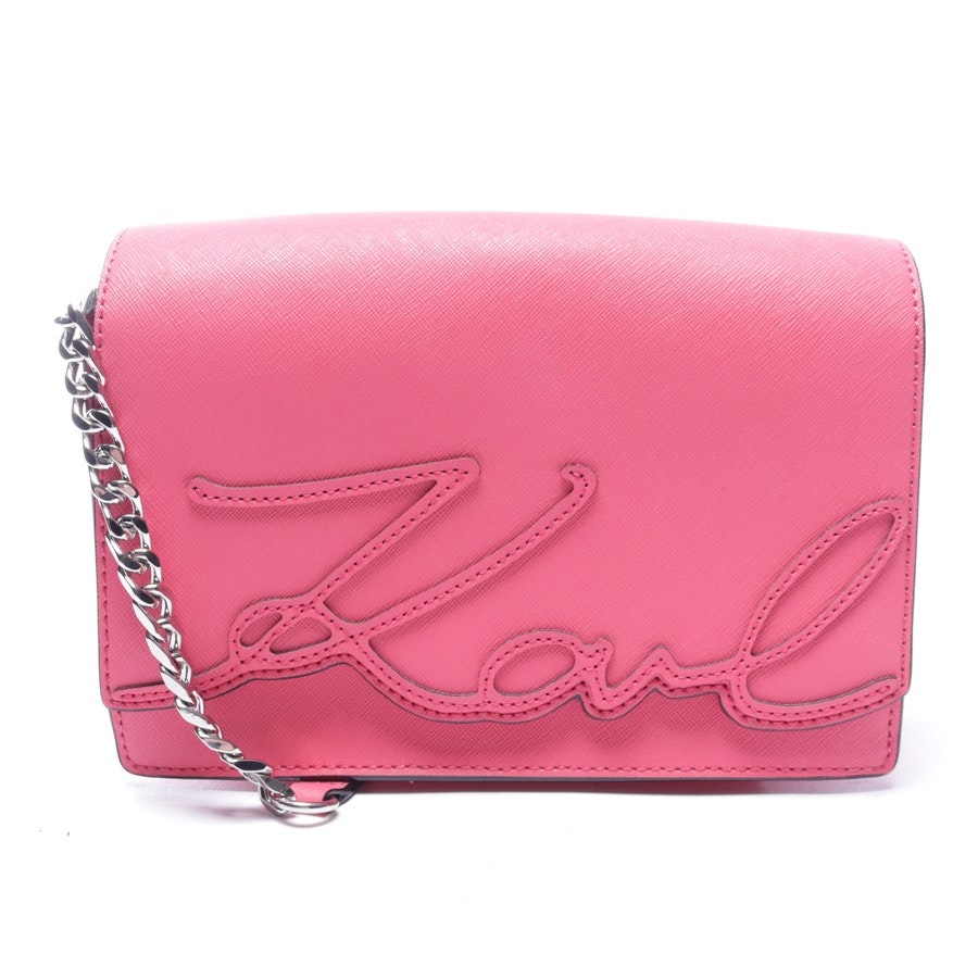 shoulder bag from Karl Lagerfeld in pink - signature bag