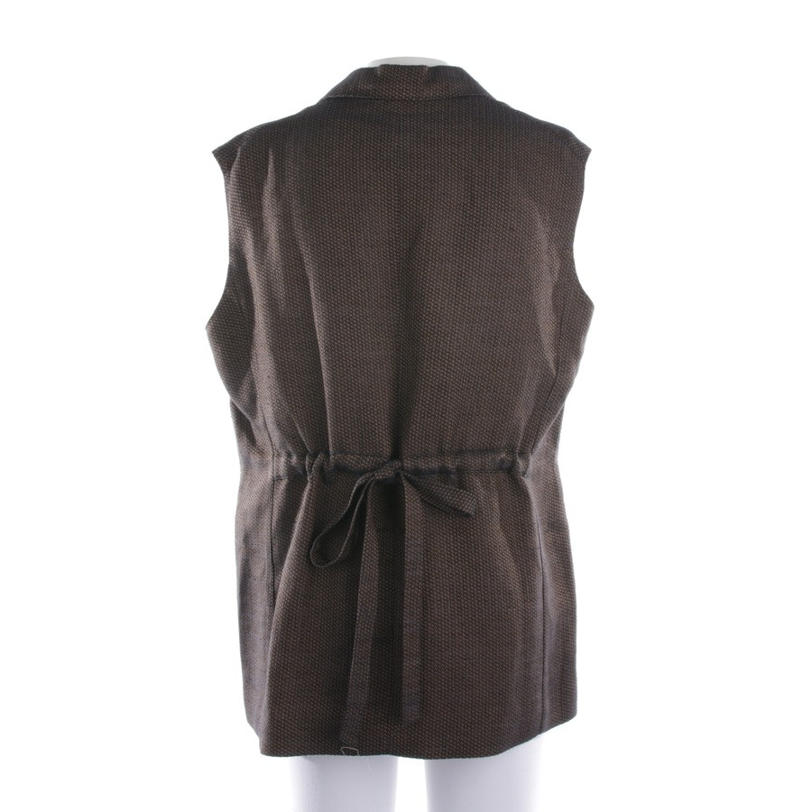 waistcoat from Aspesi in black-brown and blue size 40