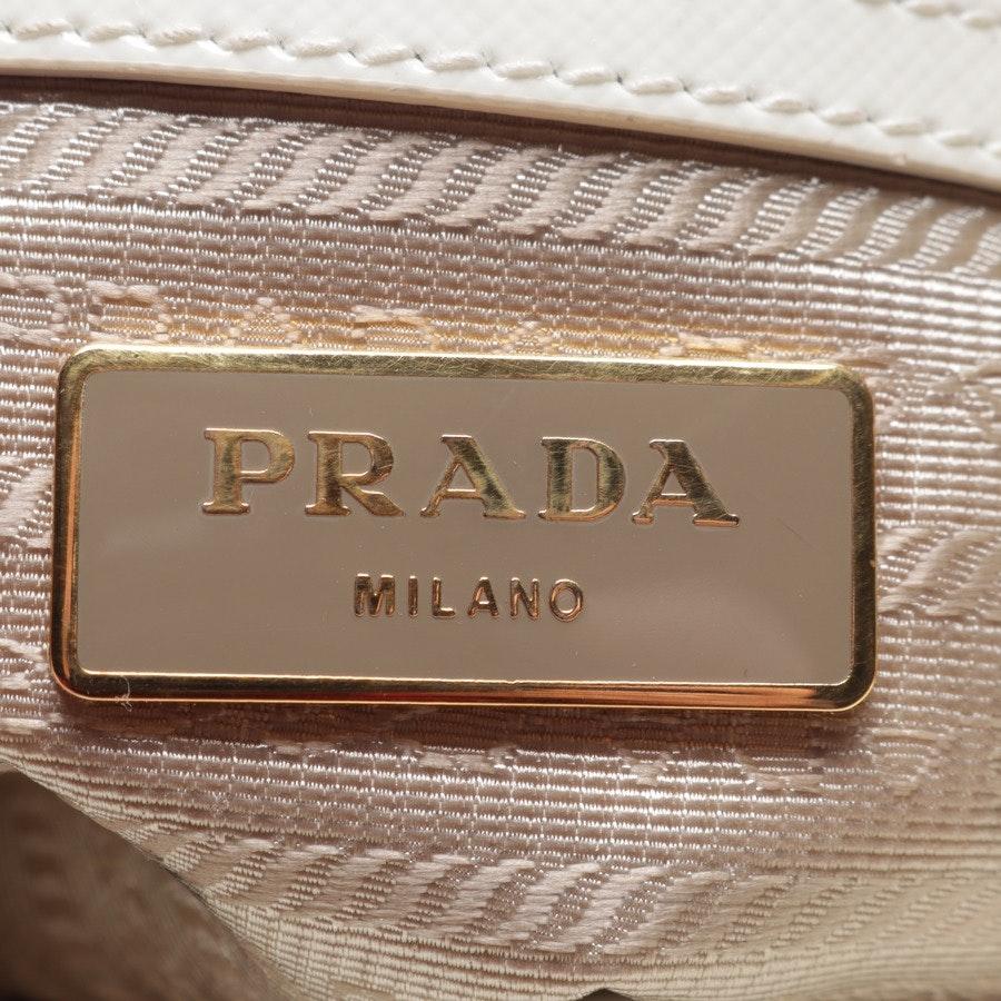 Abendtasche von Prada in Creme