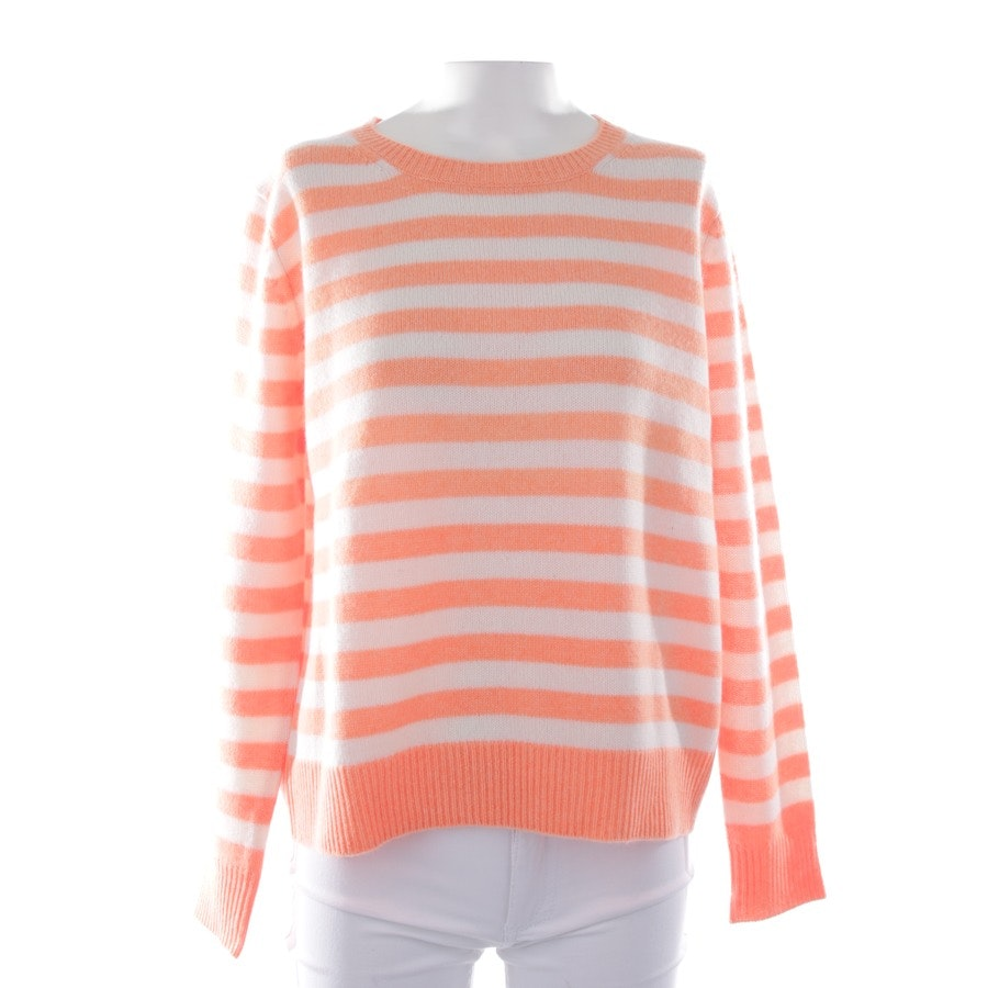 knitwear from Allude in apricot and white size S - new