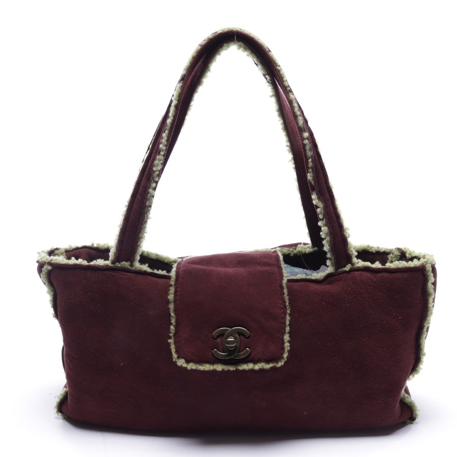 handbag from Chanel in bordeaux and green