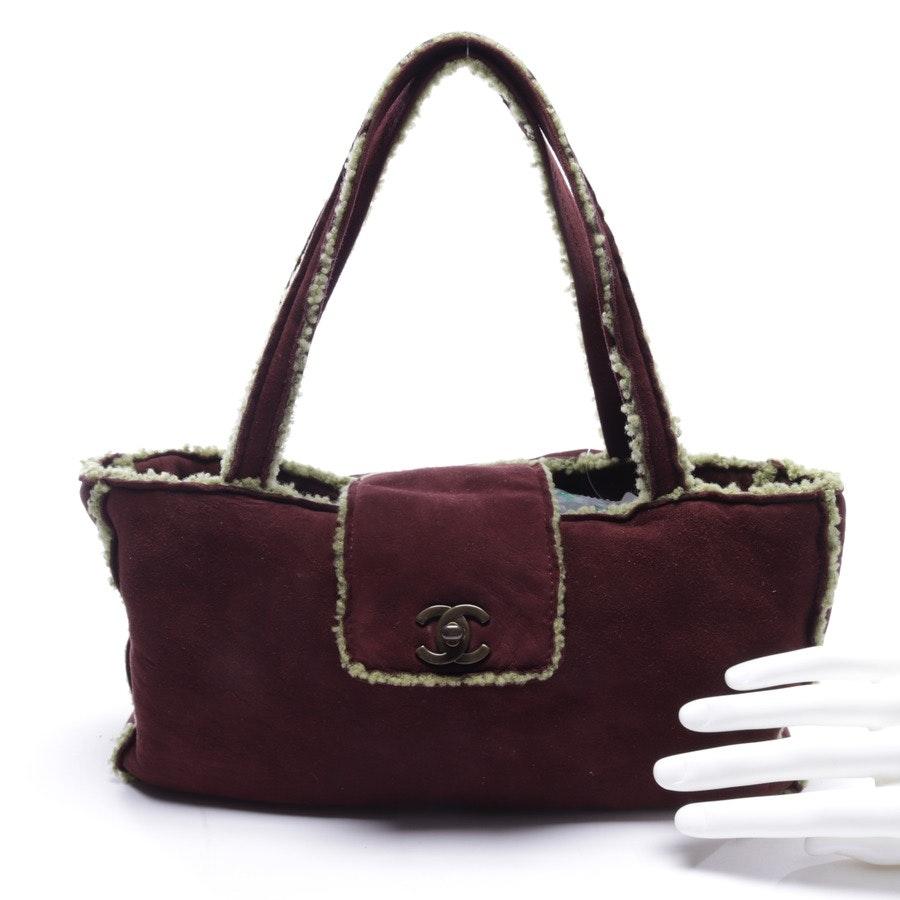Handtasche von Chanel in Bordeaux und Grün