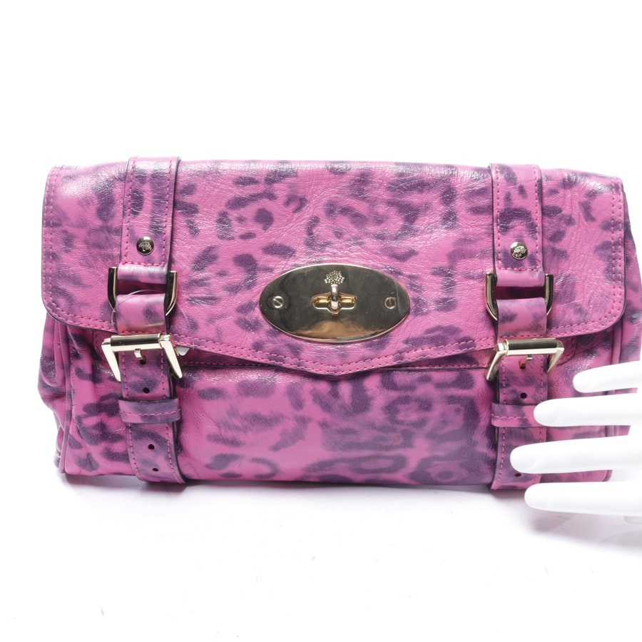 clutches from Mulberry in pink and grey - alexa leo
