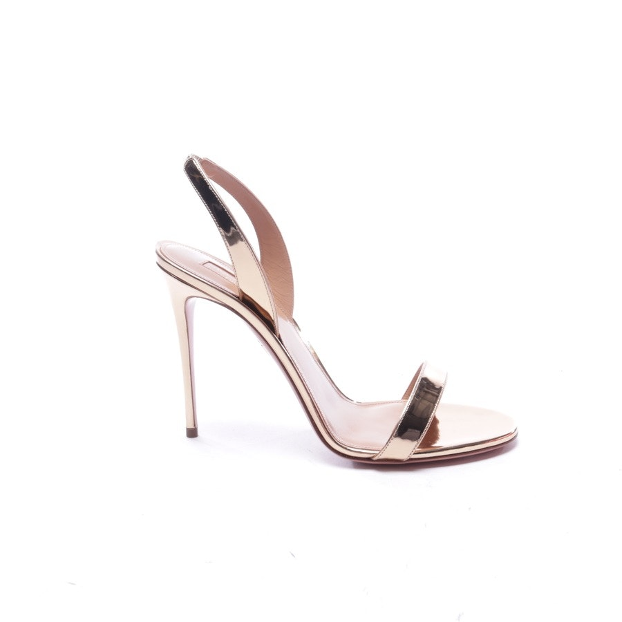 heeled sandals from Aquazzura in gold size EUR 40 - new