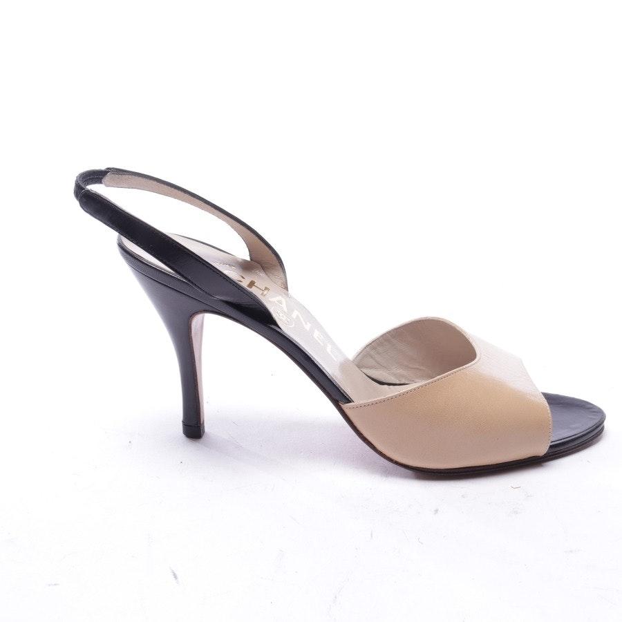Sandaletten von Chanel in Beige und Schwarz Gr. EUR 38,5 - Neu