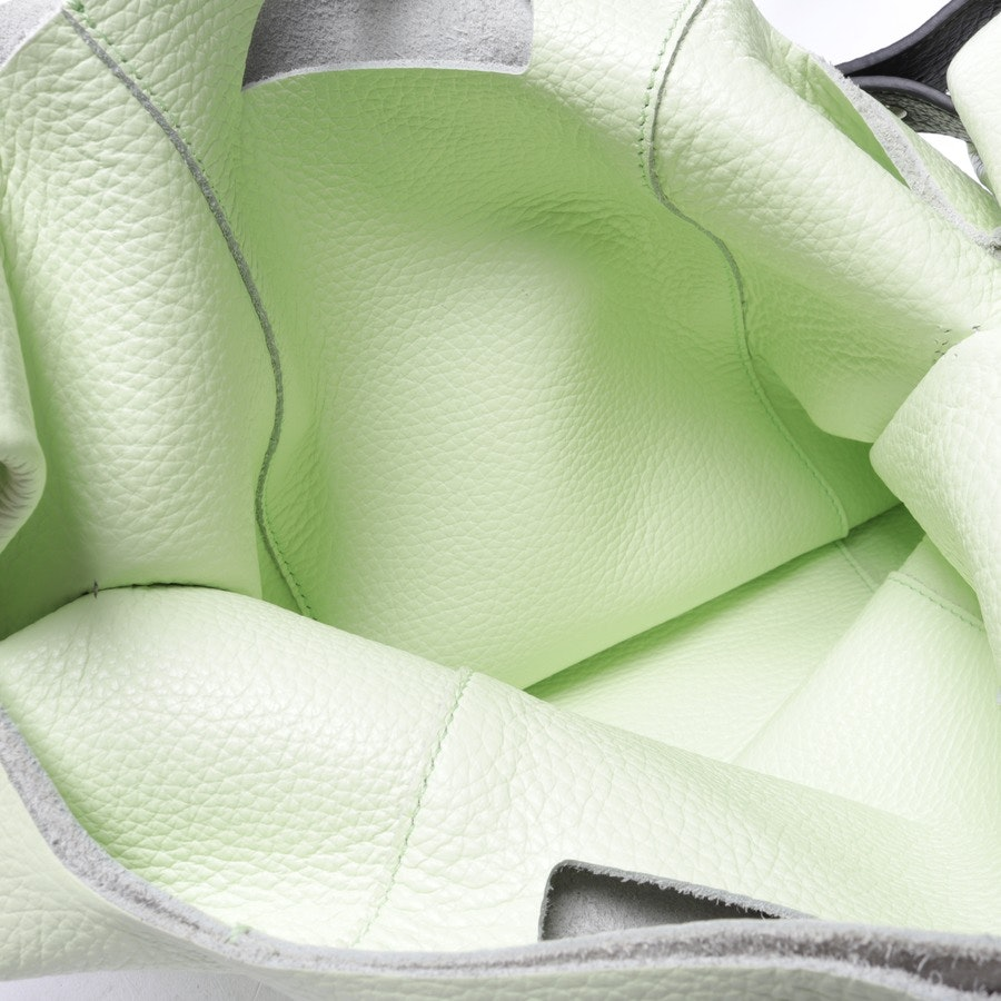 shopper from Jil Sander in pastel green and black