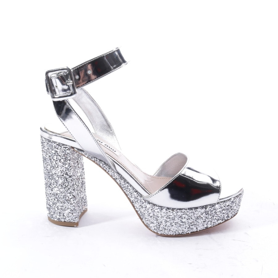 heeled sandals from Miu Miu in silver size EUR 36,5 - new