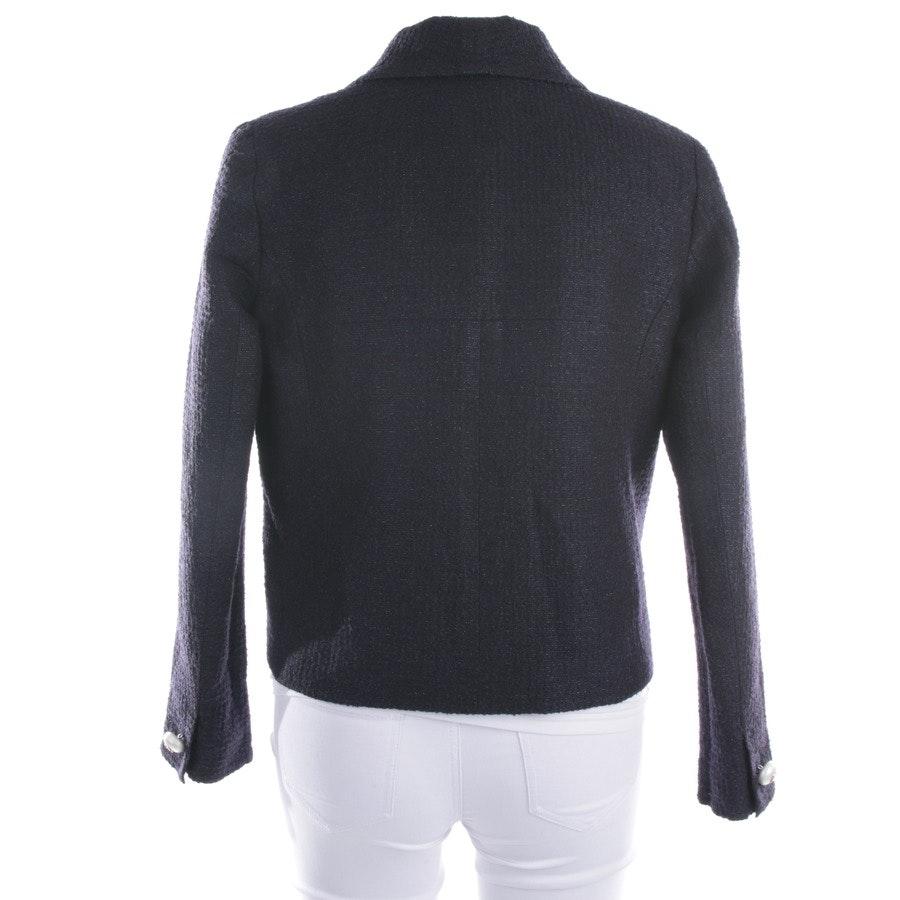 Boucleblazer von Chanel Uniform in Schwarz und Blau Gr. 38 FR 40