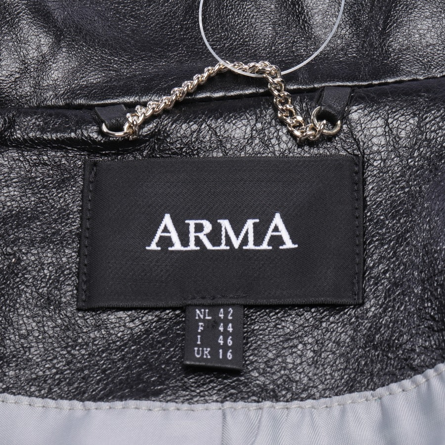 leather jacket from ARMA in black size 42 FR 44 - new
