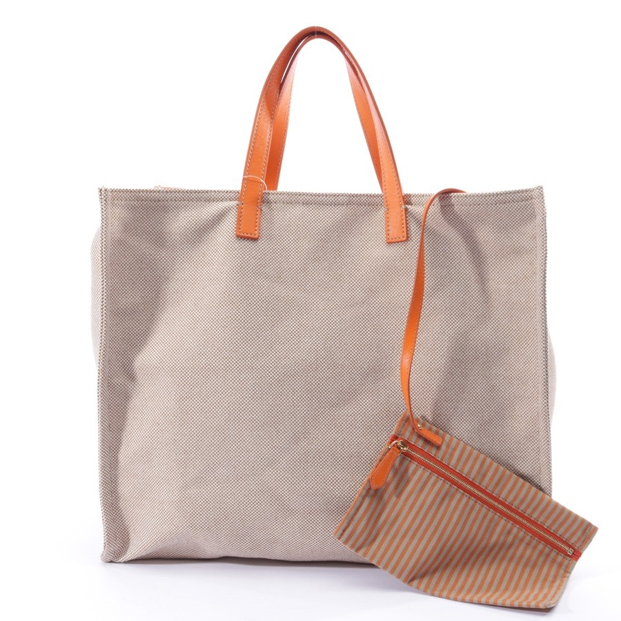 shopper from Fendi in sand and orange