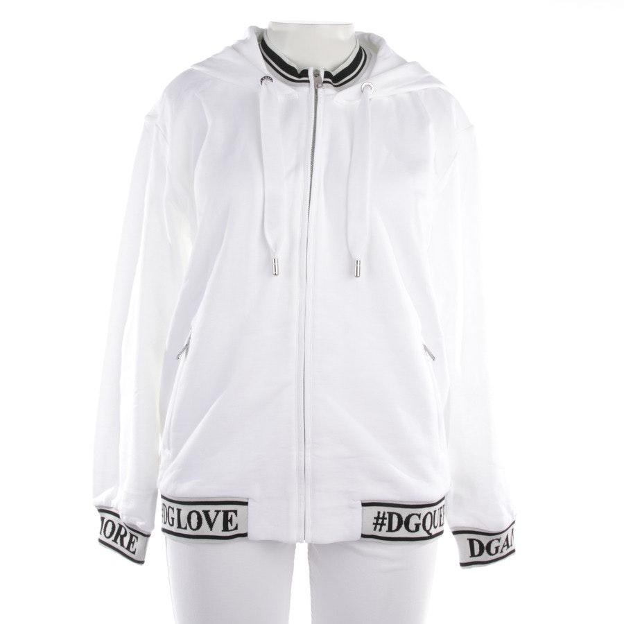 Kapuzensweatjacke von Dolce & Gabbana in Weiß und Schwarz Gr. 36 IT 42 - Neu