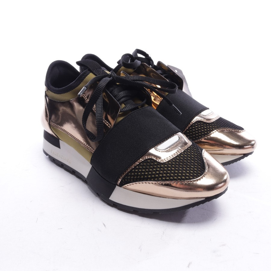 trainers from Balenciaga in olive green and gold size EUR 36 - race runner - new