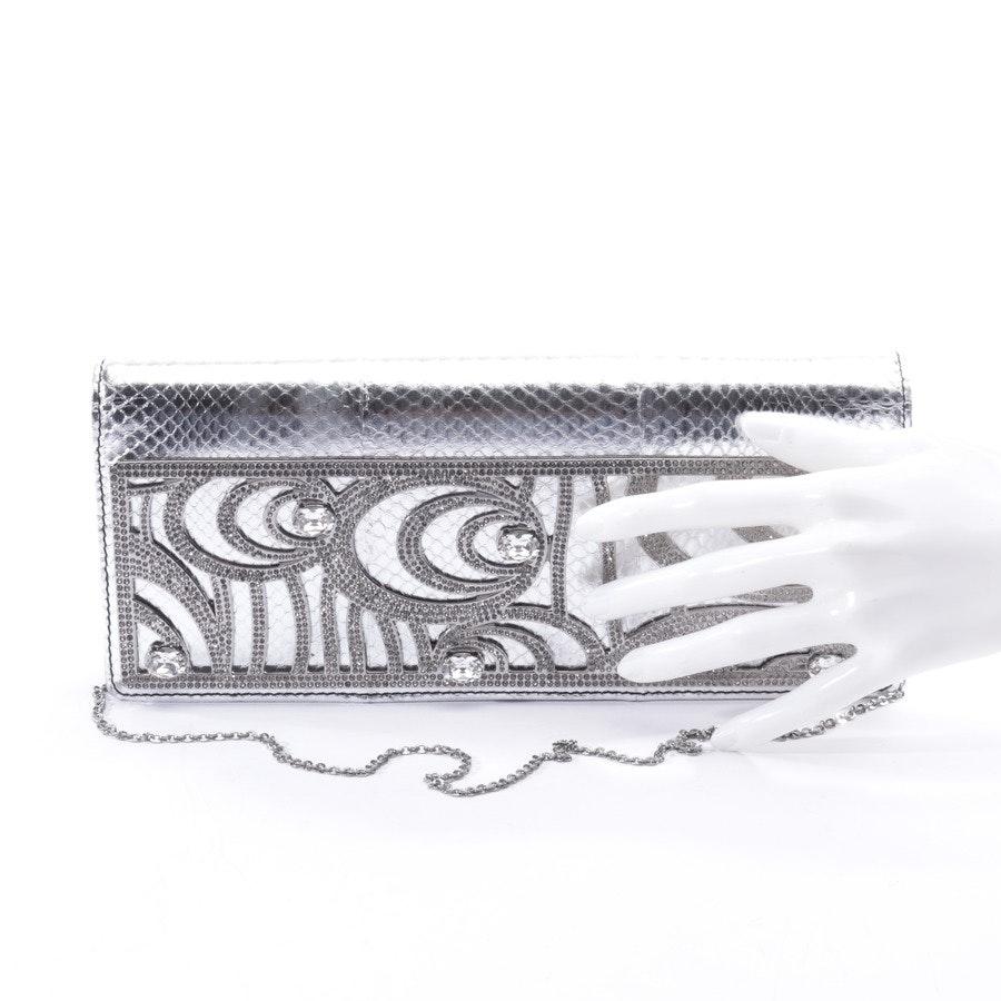 Clutch von Valentino in Silber