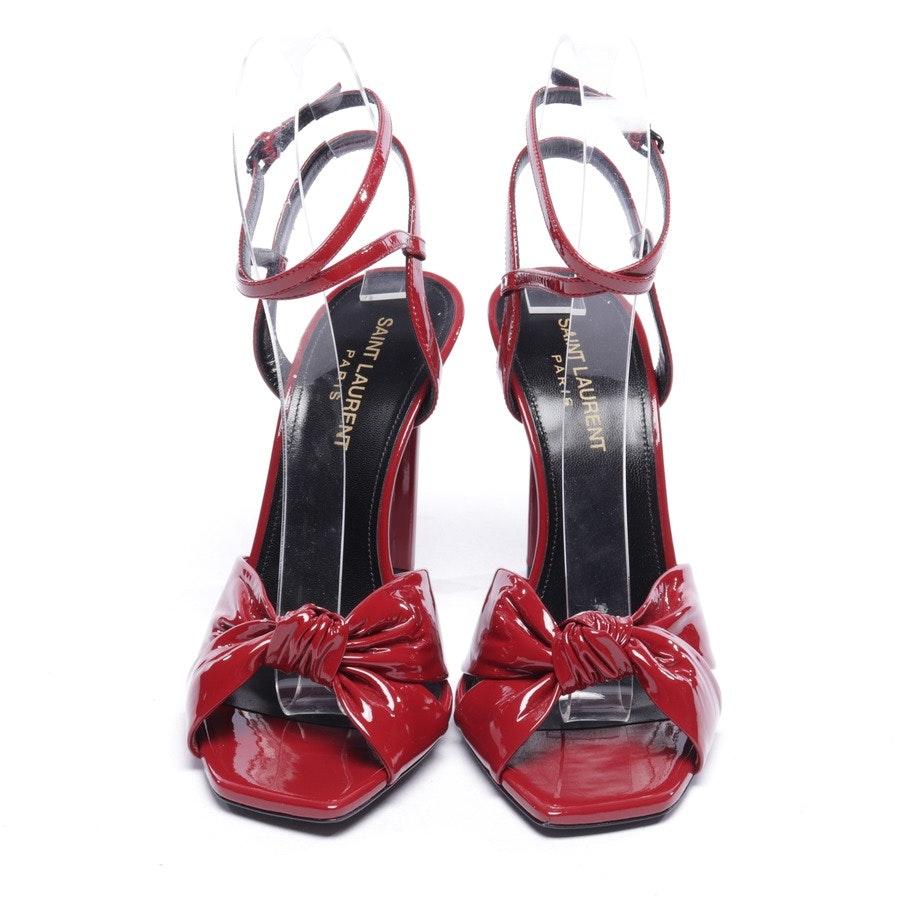 heeled sandals from Saint Laurent in bordeaux size EUR 37 - vernice baltimora - new