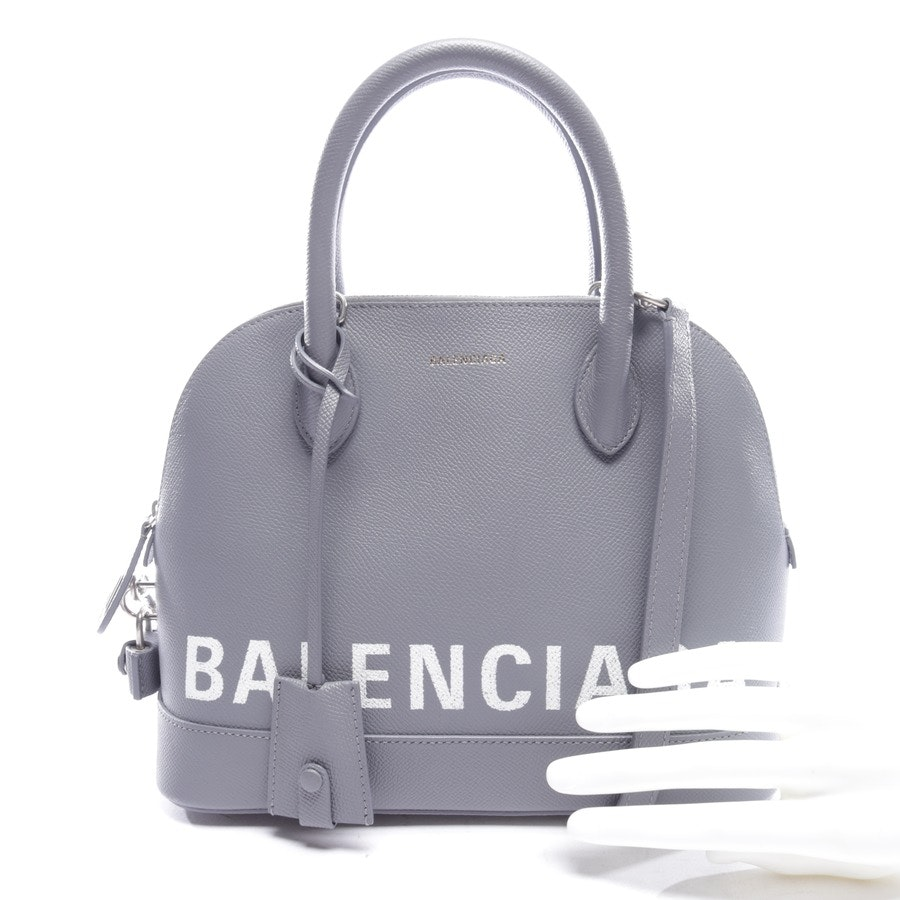 handbag from Balenciaga in grey and white - ville small new