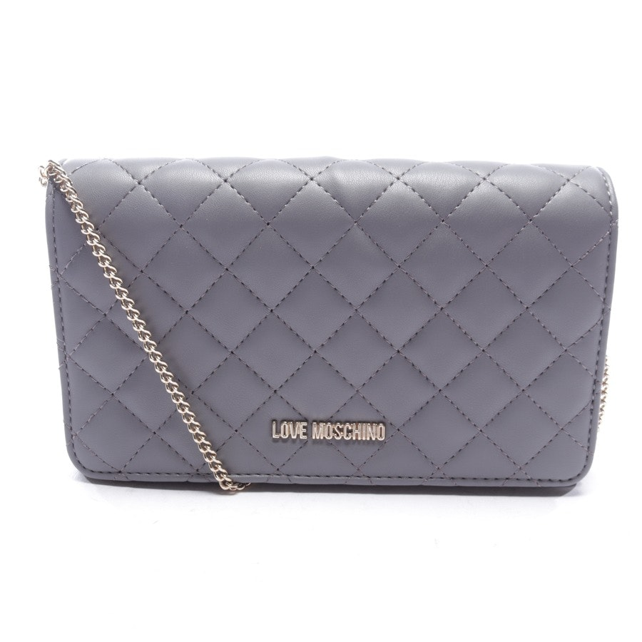 evening bags from Love Moschino in grey