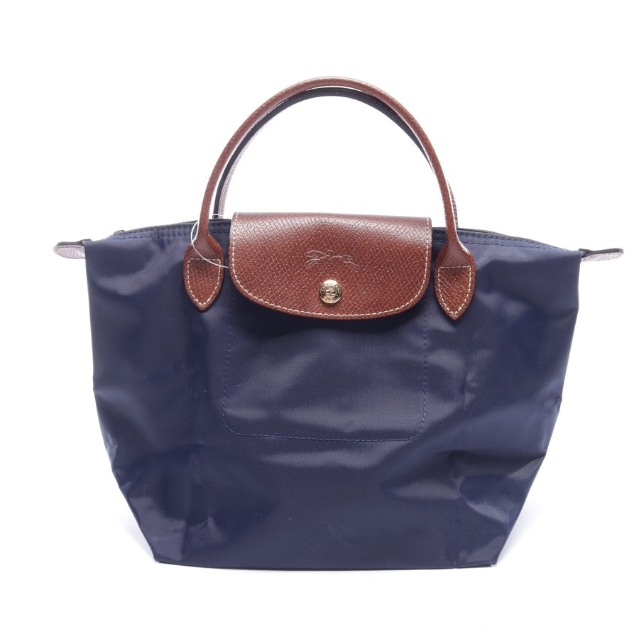 handbag from Longchamp in dark blue and brown - le pliage s