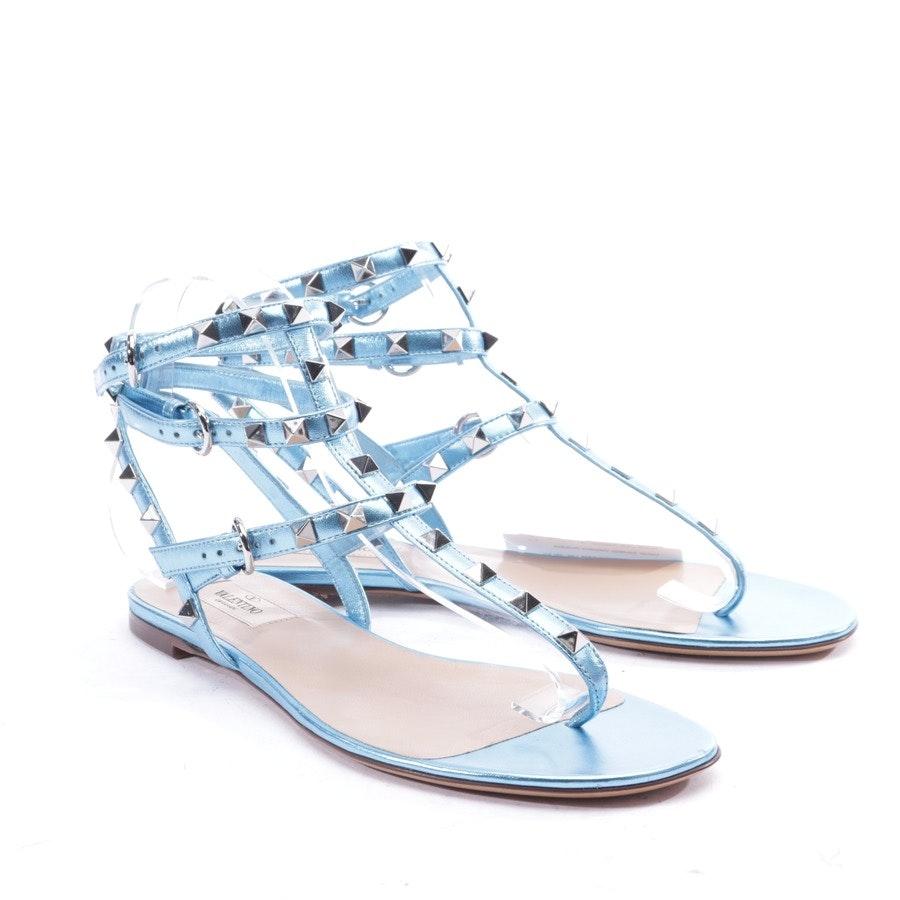 Sandalen von Valentino in Cyanblau Gr. EUR 39 - Rockstud - Neu