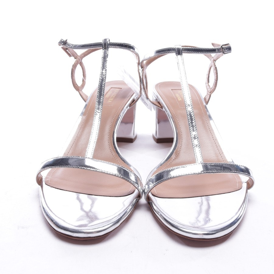 heeled sandals from Aquazzura in silver size EUR 40 - new