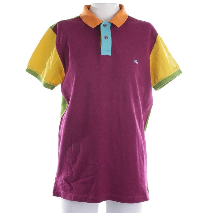 Poloshirt von Etro in Fuchsia und Gelb Gr. S