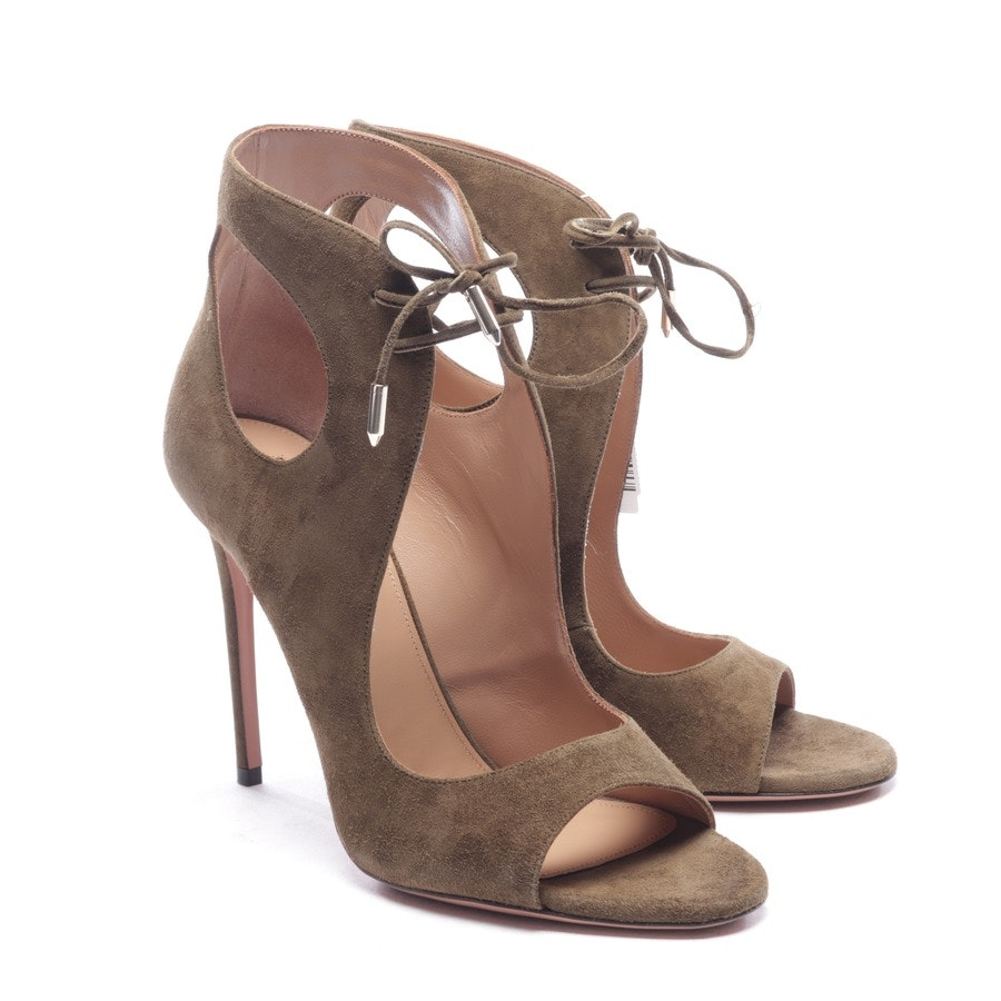 heeled sandals from Aquazzura in olive size EUR 38 - new