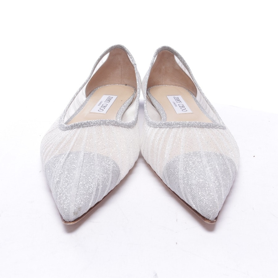 loafers from Jimmy Choo in silver and white size EUR 40 - love flat