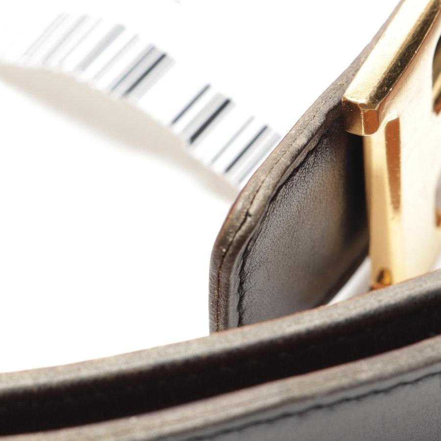 Wendegürtel von Hermès in Schwarz und Braun Gr. 75 cm
