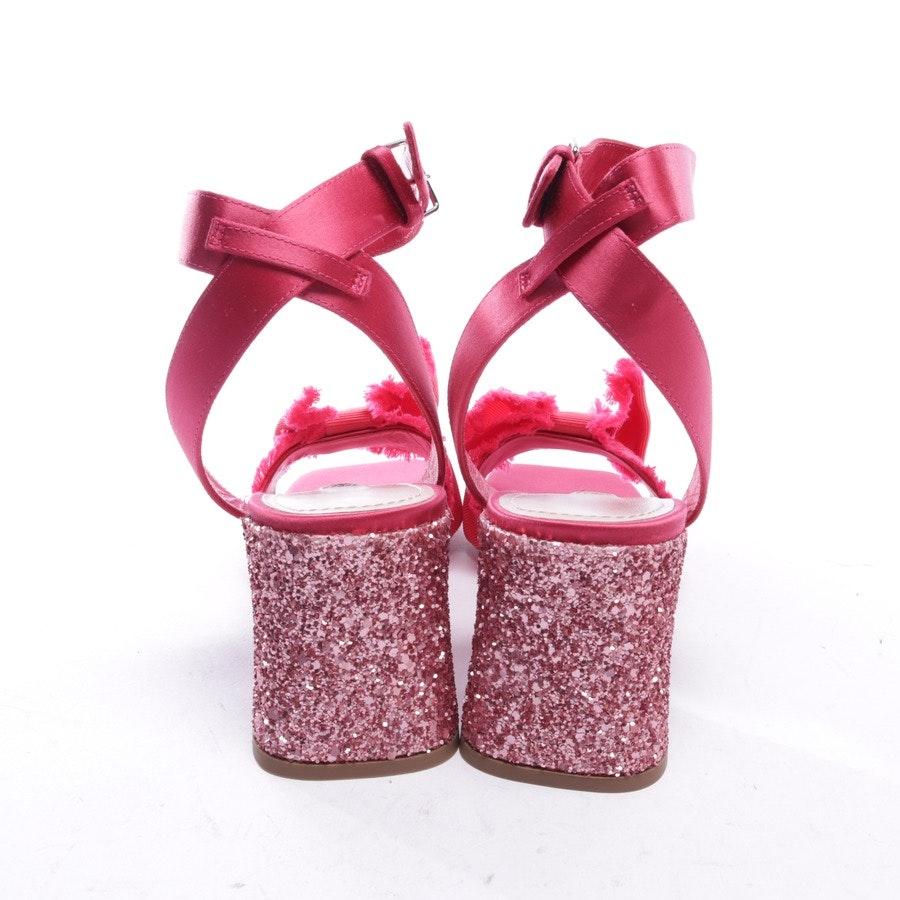 heeled sandals from Miu Miu in fuchsia size EUR 35 - new