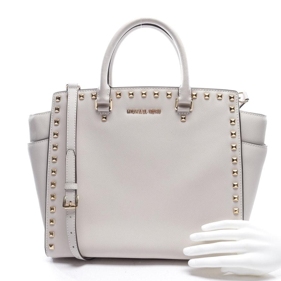 handbag from Michael Kors in cream white and gold - selma