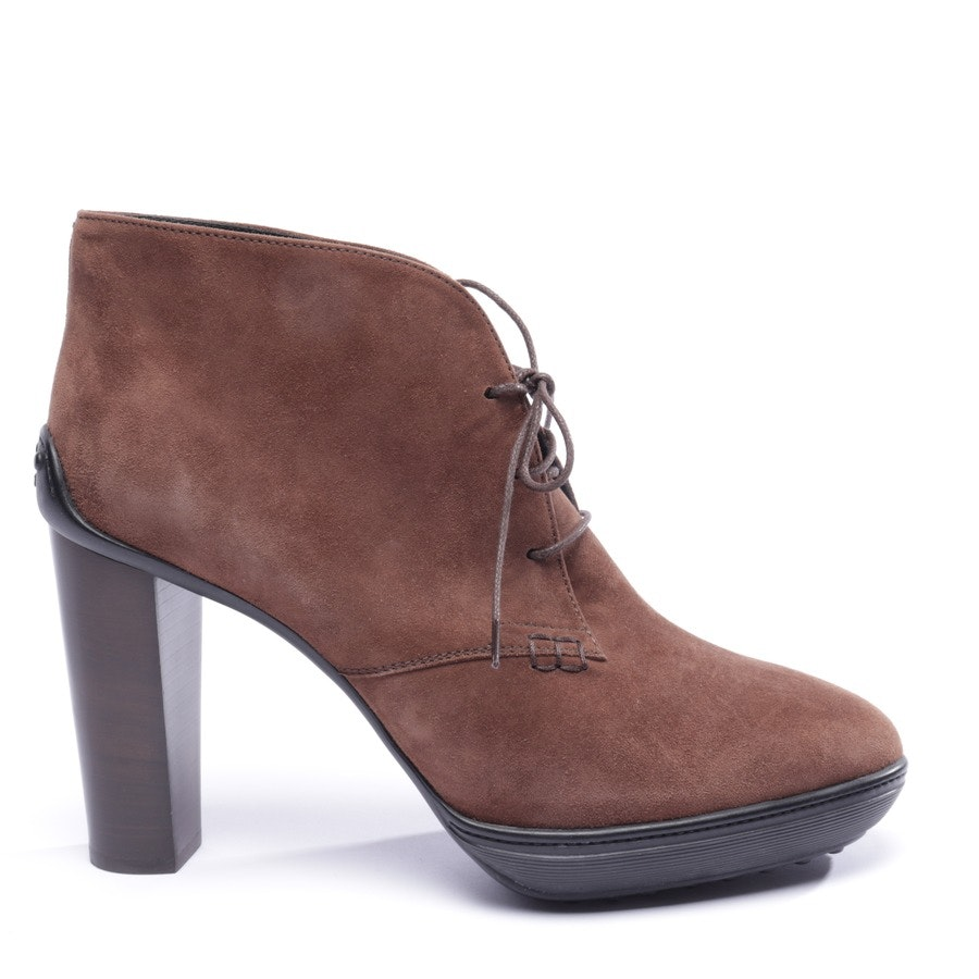 ankle boots from Tod´s in cocoa brown and black size EUR 41,5 - new