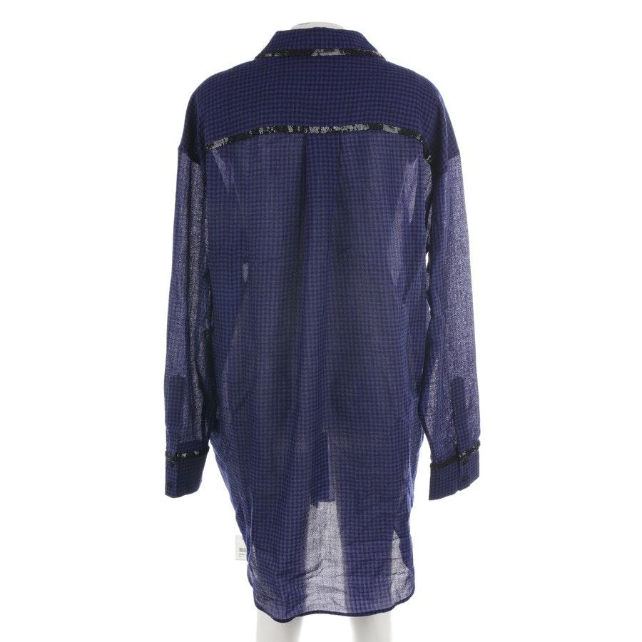 Wollkleid von Isa Arfen in Blau und Schwarz Gr. 36 UK 10 - Neu