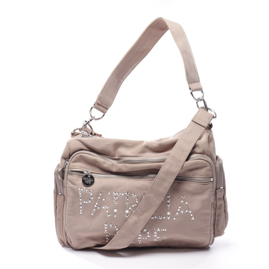 non-leather bags from Patrizia Pepe in beige-grey