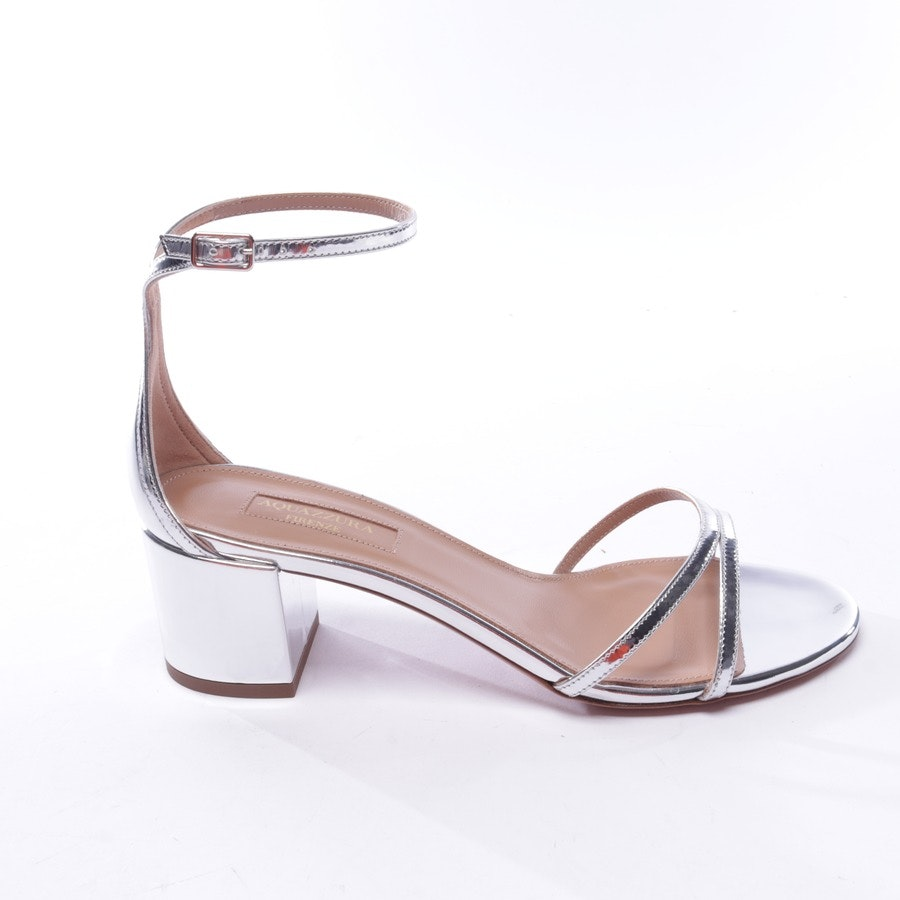 heeled sandals from Aquazzura in silver size EUR 37 - purist sandal 50 - new