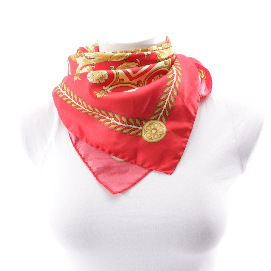 scarf from Versace in red and beige