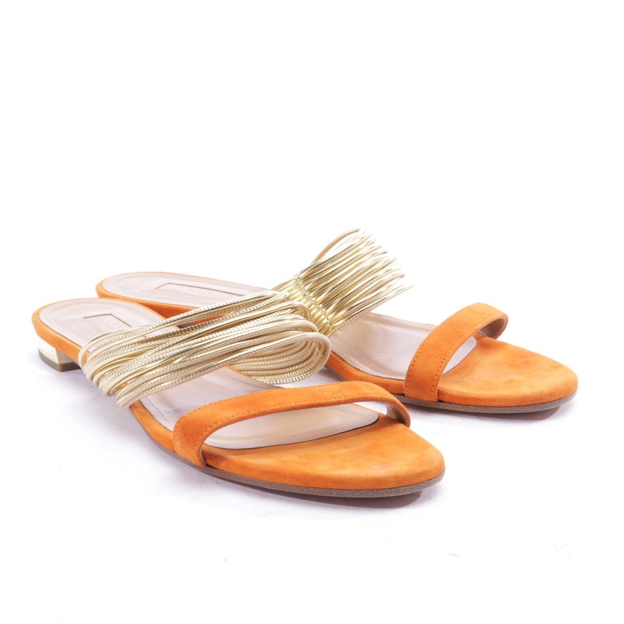 flat sandals from Aquazzura in gold and orange size EUR 38,5