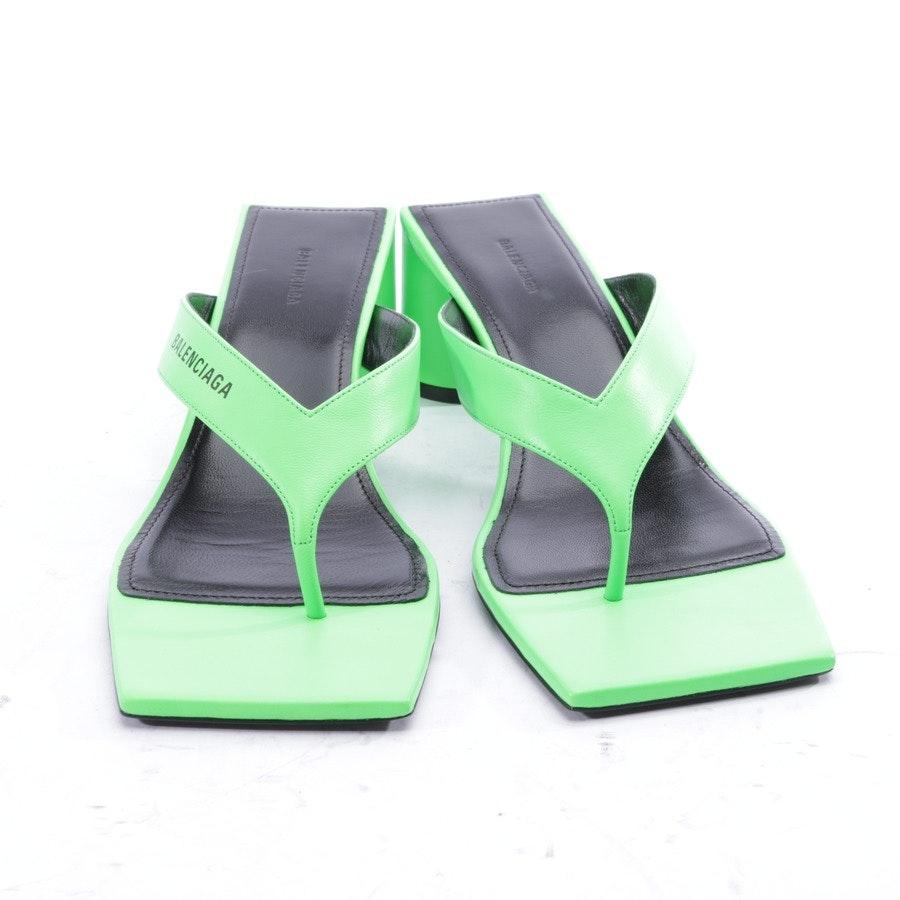Sandaletten von Balenciaga in Neon Grün und Schwarz Gr. EUR 37,5 - Neu